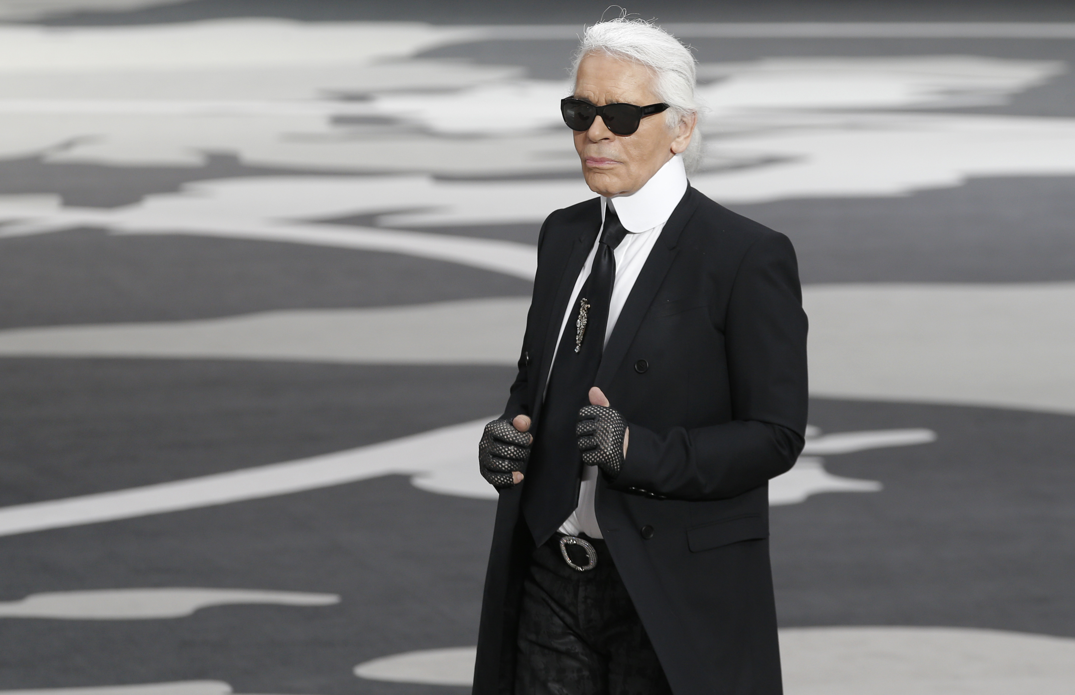 March, 5, 2013 photo of German fashion designer Karl Lagerfeld